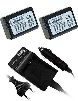 Ladegerät+ 2 Akku für Sony Alpha 6000 Alpha35 Alpha 33 Alpha7s NEX3 NEX5 NP-FW50
