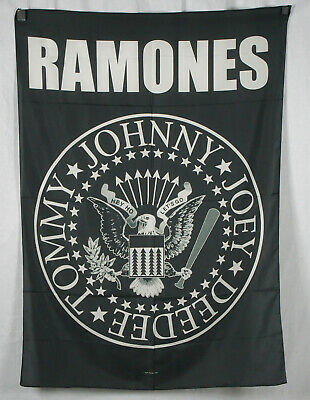 Ramones Eagle (Authentic RAMONES Eagle Logo High Quality Silk-Like Fabric Poster Flag NEW)