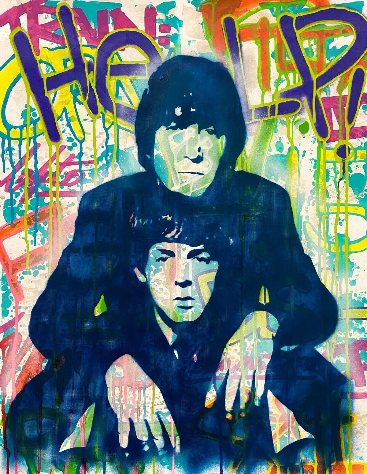 Dean Russo Art Original Artwork The Beatles Paul McCartney John Lennon Music - $325.00