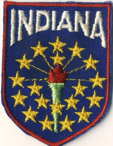 "Indiana IN Souvenir Tourist Voyageur 2.75"" Patch"