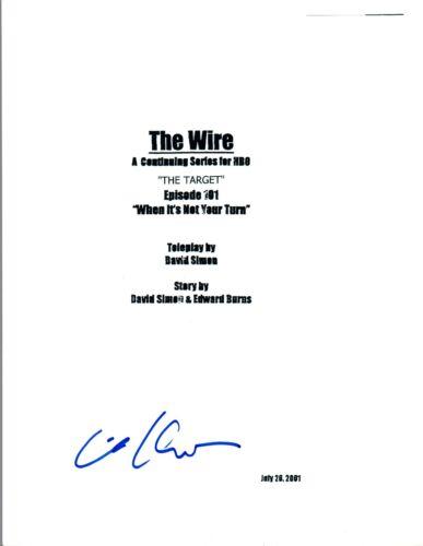 Michael Kostroff Signed Autograph THE WIRE Pilot Script Maurice Levy COA