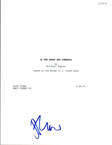 James Franco Signed Autographed OZ THE GREAT AND POWERFUL Movie Script COA VD