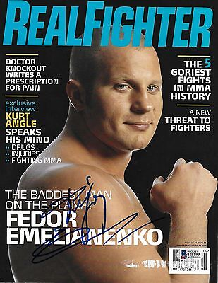 Fedor Emelianenko Signed 2006 Real Fighter MMA Magazine BAS Beckett COA Pride - Fedor Emelianenko Fighter