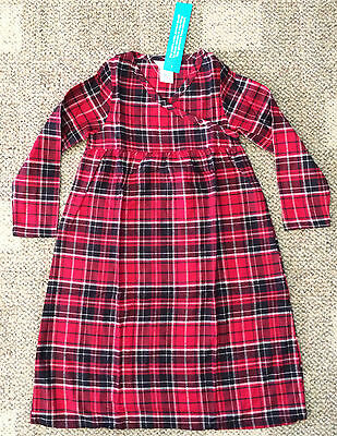 The Company Store Girls 7 Nightgown Gown Pajamas Red Woodbridge Flannel Plaid (Woodbridge Kids)