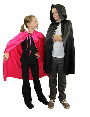 Childrens Fancy Dress Cape Kids Hooded Cloak Halloween or Fairytale Dress up