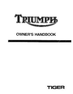 Triumph Owners Manual Book 1980 Tiger 750