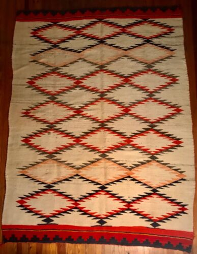 AN INCREDIBLE NAVAJO TRANSITIONAL PERIOD BLANKET IN EXCEPTIONAL CONDITION, C1885