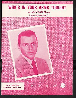 Who's In Your Arms Tonight 1958 Frank Sinatra Sheet Music