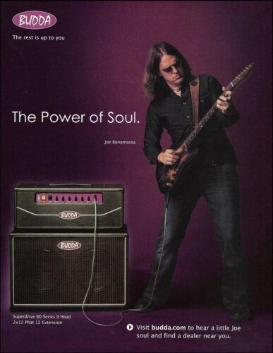 Joe Bonamassa for Budda Super Drive 80 guitar amp advertisement 8 x 11 ad print