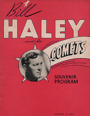BILL HALEY & HIS COMETS ORIGINAL 1956 U.S. TOUR CONCERT PROGRAM BOOK / EXCELLENT