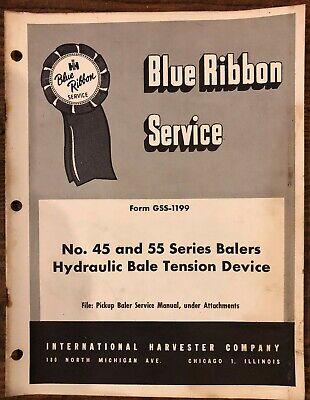 International Harvester 45 55 Baler Hydraulic Bale Tension Device Service Manual