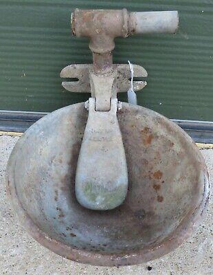 Vintage Cast Iron Fordham Animal Feeder Water Trough - Garden Planter, Bird Bath