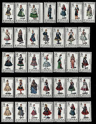 SPAIN. Regional Costumes Issue. 1967-1971. Lot 2. MNH (BI#78)](Spain Costume)
