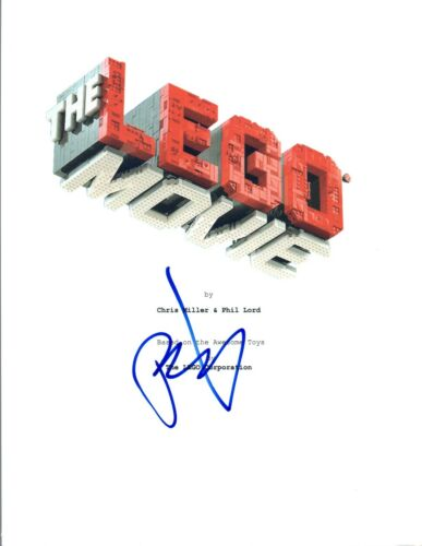 Phil Lord Signed Autographed THE LEGO MOVIE Script COA VD