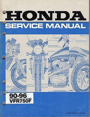 HONDA VFR 750 F 1990 - 96 WORKSHOP SERVICE MANUAL paper bound copy NOT pdf.