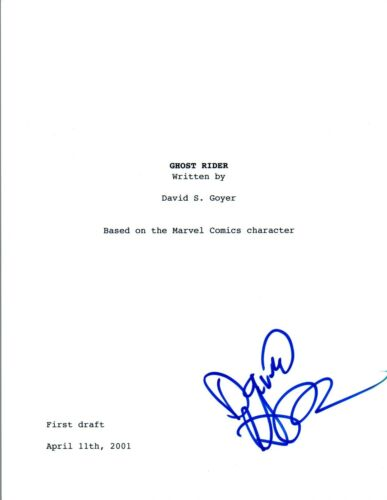 David Goyer Signed Autographed GHOST RIDER Full Movie Script COA VD
