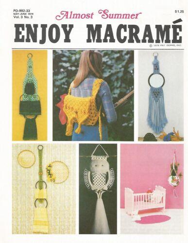 Enjoy Macrame Almost Summer Vintage Instruction Patterns Macrame 70