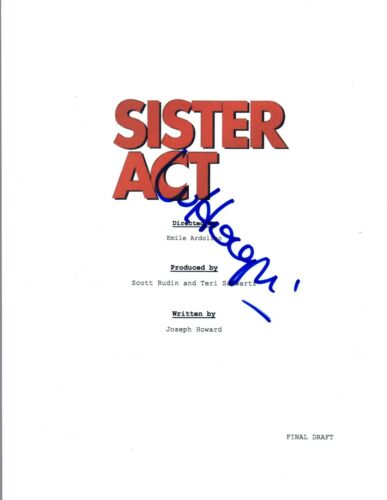 Whoopi Goldberg Signed Autograph SISTER ACT Full Movie Script COA VD