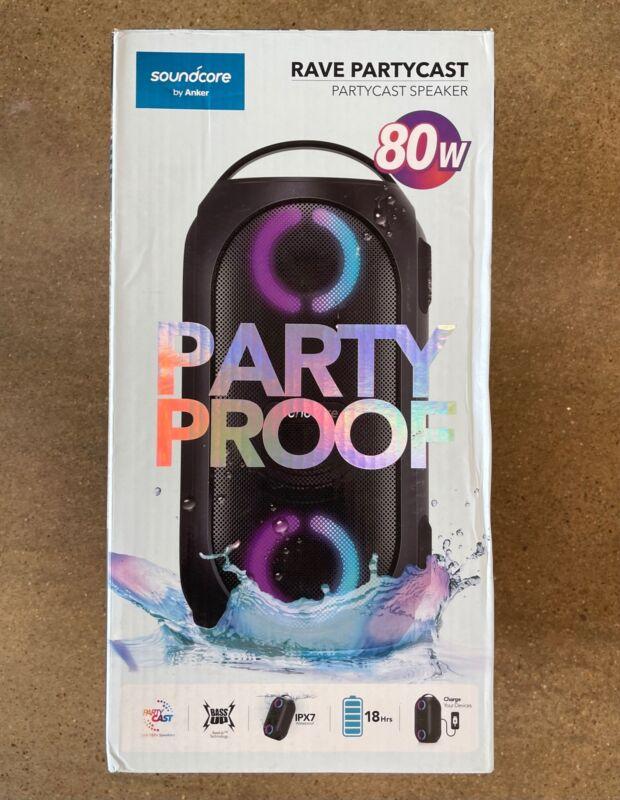 Anker Soundcore Rave Party Proof 80W Bluetooth Speaker-Black-Excellent