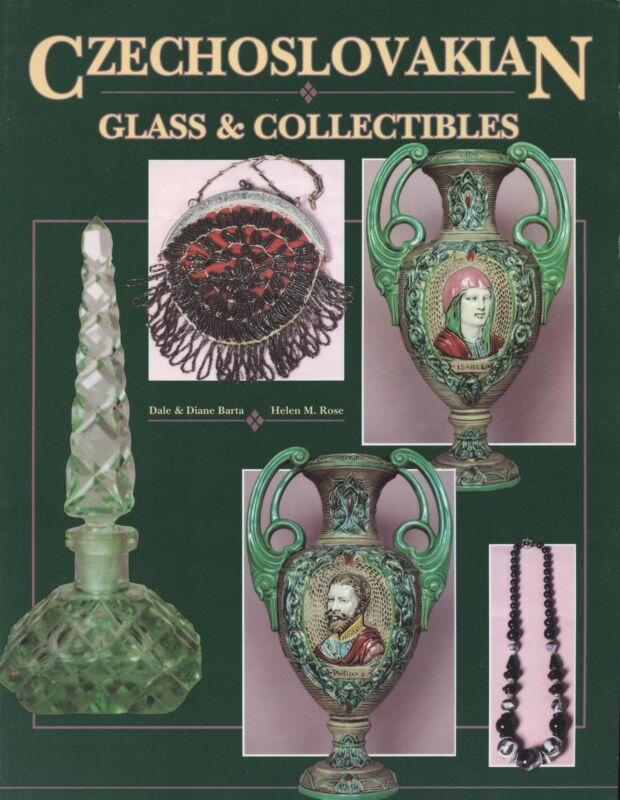 Antique Czechoslovakian Glass Ceramics incl. Marks / Scarce Book + Values