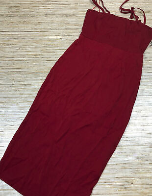 I-172 About Us Revolve shoulder tie midi dress RED size XS