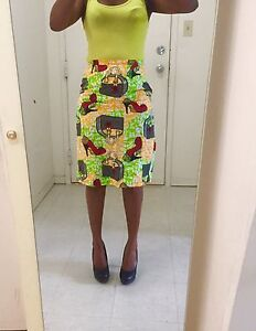 African fabric skirt size S