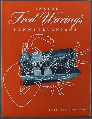 1950S Inside Fred Waring's Pennsylvanians Souvenir Program Music Big Band