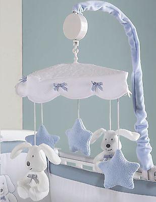 Picci Baby-Karussell da Kinderbett mit Strumgeläut Sugar Hellblau ()