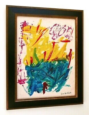 JOAN MITCHELL -- PAINTING ON CANVAS, ABSTRACT EXPRESSIONIST SIGNED, PROVENANCE