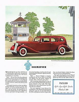 1936 BIG Original Vintage Packard Twelve Limousine Car Automobile Art Print Ad for sale  Shipping to United States