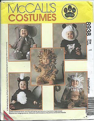 M 8938 sewing pattern SKUNK LION MONKEY ELEPHANT PANDA sew CUTE Tom Arma COSTUME](Tom Arma Lion Costume)