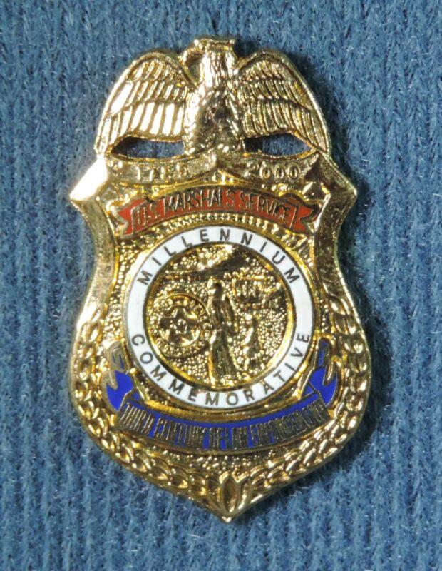 2000 Millennium Commemorative US Marshals Service Mini Badge Pin Pinback