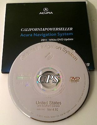 2007 2008 2009 2010 2011 HONDA ACURA NAVIGATION DISC DVD CD GPS MAP VER 4.92