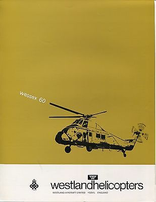 WESTLAND WESSEX 60 HELICOPTER MANUFACTURERS SALES BROCHURE