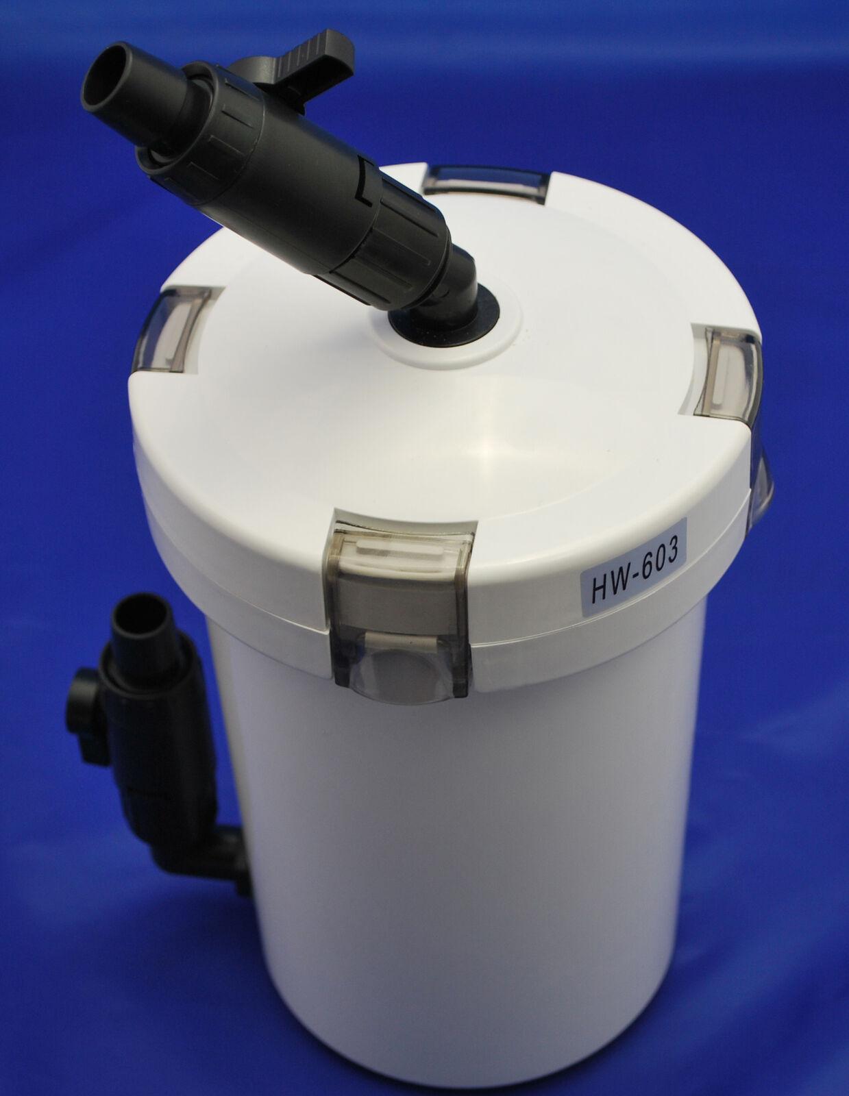 Aquarium Wirbelbettfilter Fließbettfilter Filtersystem Außenfilter 400L/h