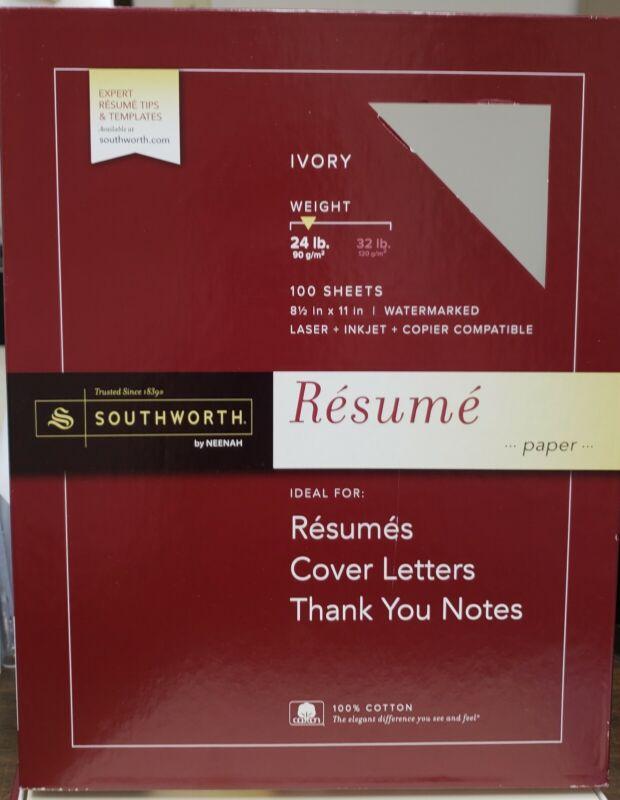 Resume Stationary Paper, White, 32lb, 3 Sheets Per Order!