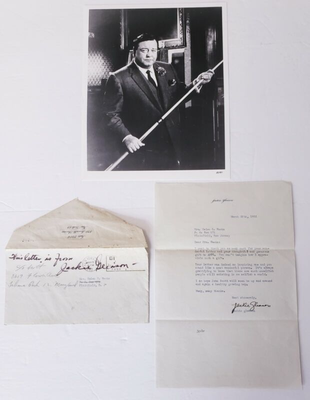 JACKIE GLEASON LETTER SIGNED 1952 With 8x10 Photo