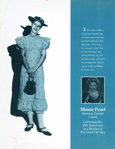 Minnie Pearl Grand Ole Opry 50th Anniversary Program 1990
