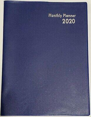 2020 Plannercalendar Blue Monthly Format 10 X 7.5