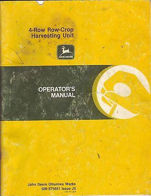 John Deere 4-Row Row-Crop Harvesting Unit Manual