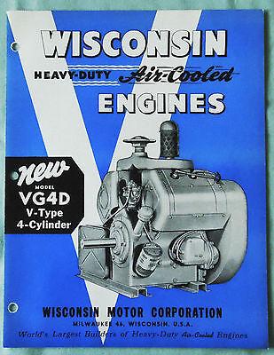 Vintage Wisconsin New Model Vr4d Air Cooled Engine Sales Brochure