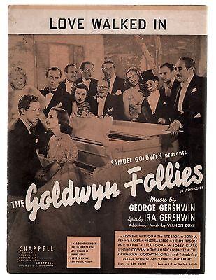 Love Walked In 1938 Goldwyn Follies Sheet Music