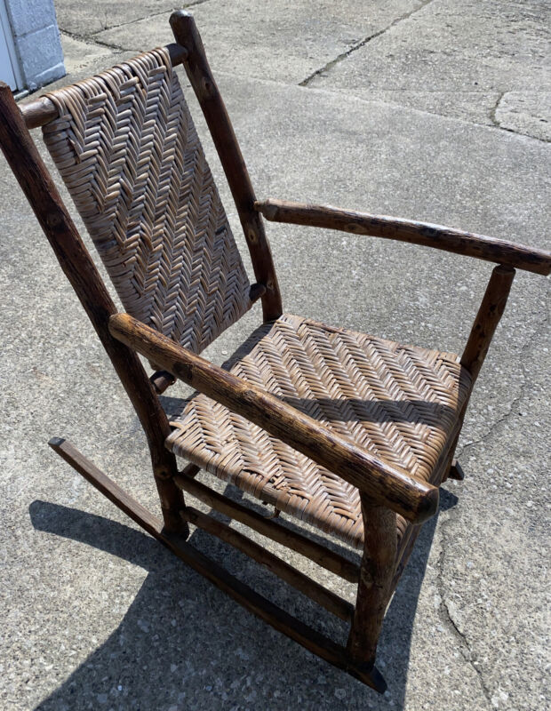 Old Hickory Antique Rustic Armchair & Rocker