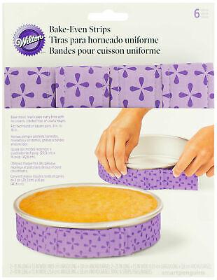 Wilton W0796 Bake-Even Cake Strips 6/Pkg-35