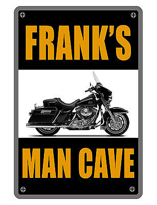 Personalized Man Cave   Garage Sign Printed Your Name Custom Aluminum Signs Full