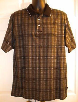 Greg Norman Men's Polo Shirt Golf Black Short Sleeve 100% Cotton (size L)