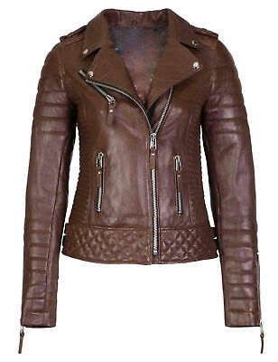 Women's Genuine Lambskin Leather Jacket Biker Motorcycle Jacket Pack of 16 Wholesale Leather Biker Jacket