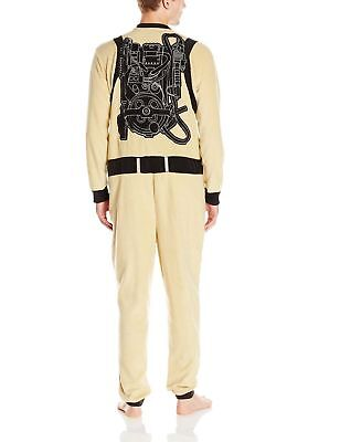 Mens Ghostbusters Microfleece Jumpsuit Pajama Halloween Costume Size Small](Size Small Mens Halloween Costumes)