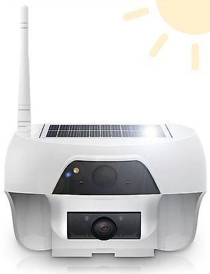 Solar Powered Wireless Outdoor WIFI IP Surveillance Security Camera Night Vision
