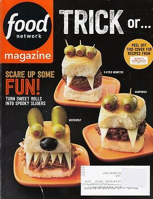 FOOD NETWORK magazine October 2016 , Make Scary Halloween Fun unique Food !! - Halloween Scary Foods